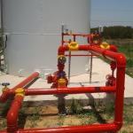 Montagem de rede de hidrantes
