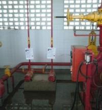 Instalação de sistema de combate a incêndio